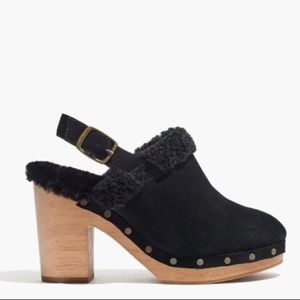 Madewell Lesley shearling clog slingback